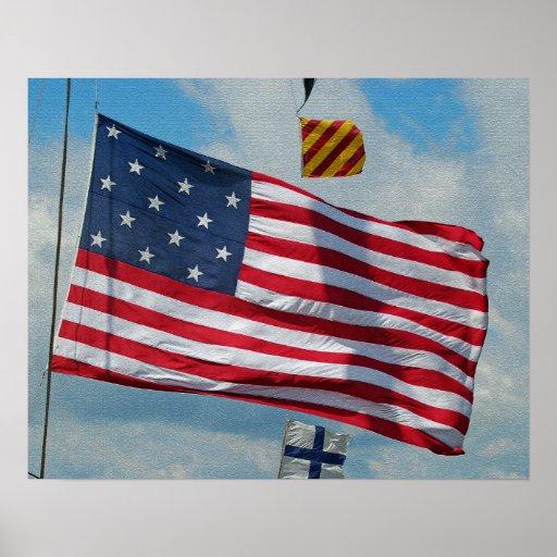 USA 15 Star Flag Poster/Print
