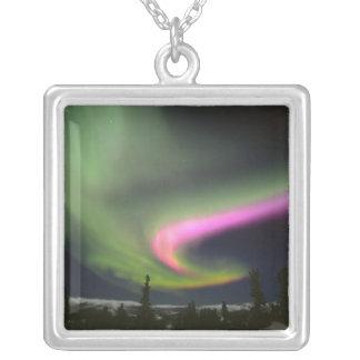 USA, Alaska, Chena Hot Springs. Aurora 2 Silver Plated Necklace