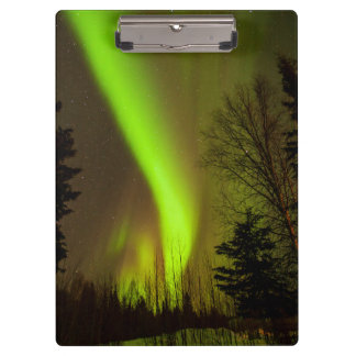USA, Alaska, Chena Hot Springs. View Of Aurora Clipboard