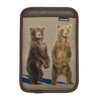USA. Alaska. Coastal Brown Bear cubs watch their iPad Mini Sleeve