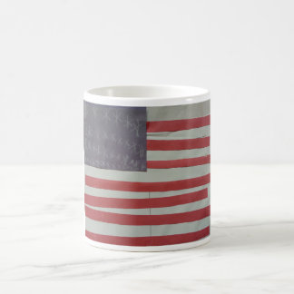 USA American Flag Basic White Mug