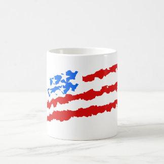 Usa - american flag basic white mug