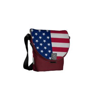 USA American Flag Patriotic Stars Messenger Bag