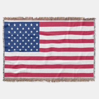 USA American Flag Patriotic Stars Throw Blanket