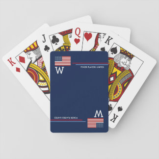 USA american flag personalized Playing Cards