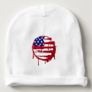 usa american flag spot baby beanie