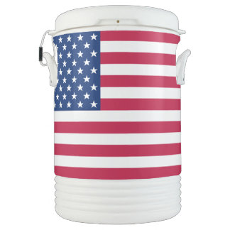 USA American Flag Stars Stripes 4th of July Picnic Drinks Cooler