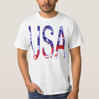 USA American Flag Two-Tone T-Shirt