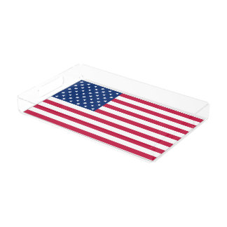 USA American US Flag Patriotic Party Serving Tray