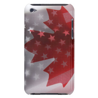 USA and Canada flags ipod touch case