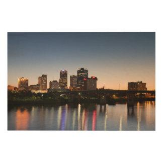 USA, Arkansas, Little Rock, City Skyline Wood Canvases