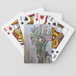 USA art 2 Playing Cards