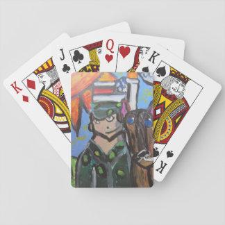 USA art 4 Playing Cards