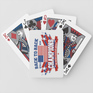 USA Back To Back Champions Playing Cards