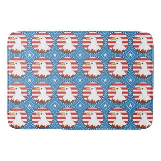 USA bald eagle pattern Bath Mat