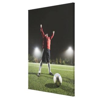 USA, California, Ladera Ranch, Football player 2 Canvas Print