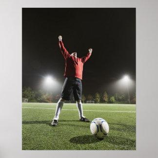 USA, California, Ladera Ranch, Football player 2 Print