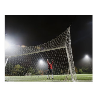 USA, California, Ladera Ranch, Football player Postcard