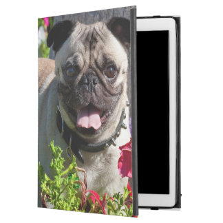 "USA, California. Pug In Flower Garden iPad Pro 12.9"" Case"