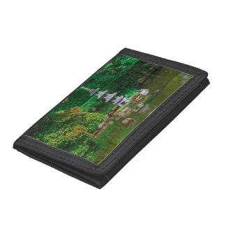 USA, California. View Of A Pond Tri-fold Wallets