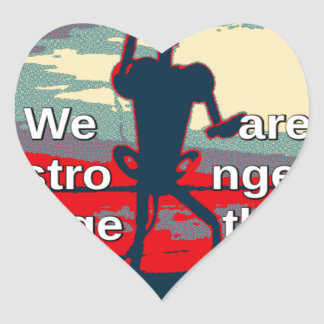 USA Change - We Are Stronger Together Heart Sticker
