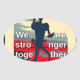 USA Change - We Are Stronger Together Oval Sticker