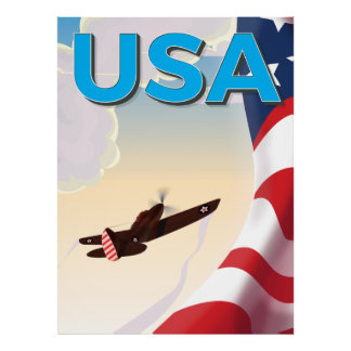 USA Classic World War Two Poster