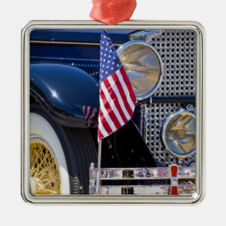 USA, Colorado, Frisco. Vintage Packard auto Silver-Colored Square Decoration