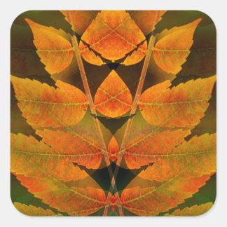 USA, Colorado, Lafayette. Autumn sumac montage Square Sticker