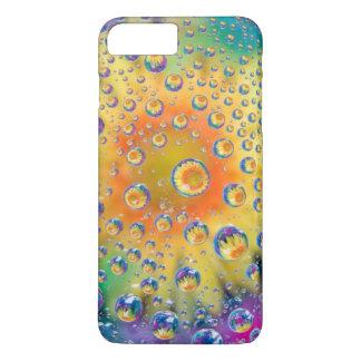 USA, Colorado, Lafayette. Water bubbles on glass 2 iPhone 7 Plus Case