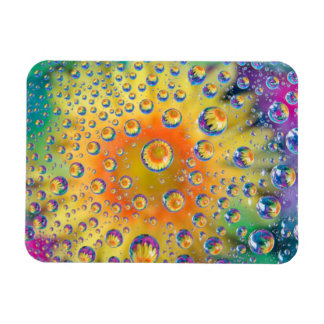 USA, Colorado, Lafayette. Water bubbles on glass 2 Magnet