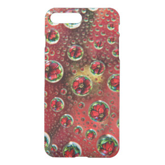 USA, Colorado, Lafayette. Water bubbles on glass 3 iPhone 7 Plus Case