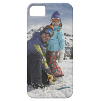 USA, Colorado, Telluride, Father and daughter iPhone 5 Case
