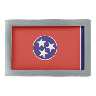 usa country state tennessee flag rectangular belt buckle