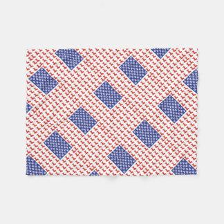 USA Dachshund Fleece Blanket