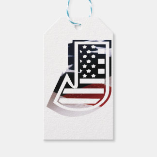 USA Flag American Initial Monogram J