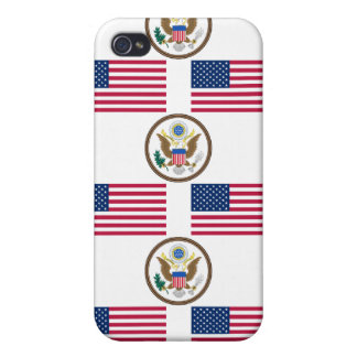 USA Flag and Great Seal iPhone 4/4S Cover
