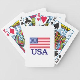 USA Flag Bicycle Playing Cards