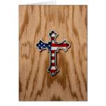USA Flag Cross