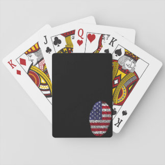 Usa flag fingerprint playing cards