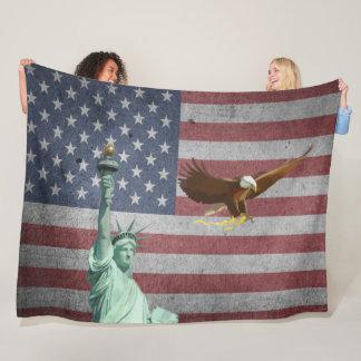 Usa flag fleece blanket
