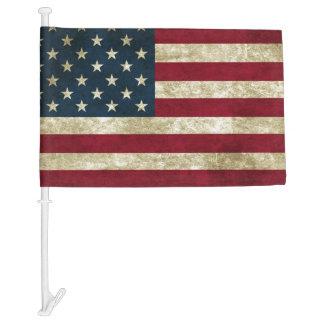 USA Flag Grunge Car Flag