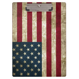 USA Flag Grunge Clipboard