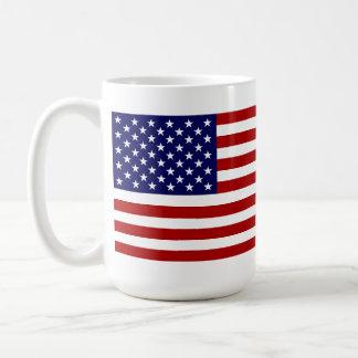 USA Flag Classic White Coffee Mug
