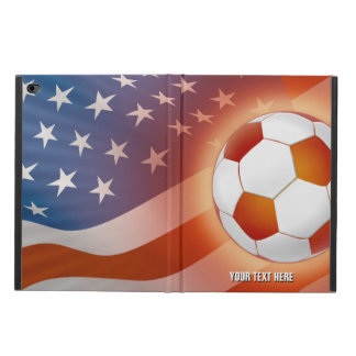 USA Flag & Orange Soccer Ball Powis iPad Air 2 Case