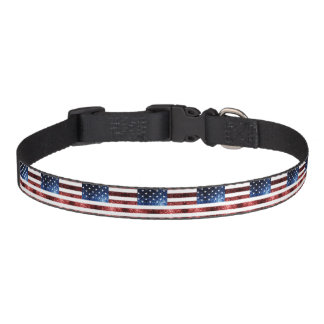 USA flag red and blue sparkles glitters Pet Collar