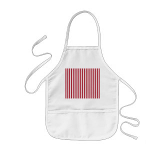 USA Flag Red and White Stripes Kids Apron