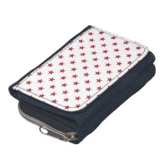 USA Flag Red Stars on White Throw Pillows Wallets