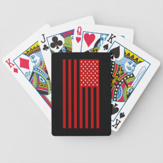 USA Flag - Red Stencil Bicycle Playing Cards