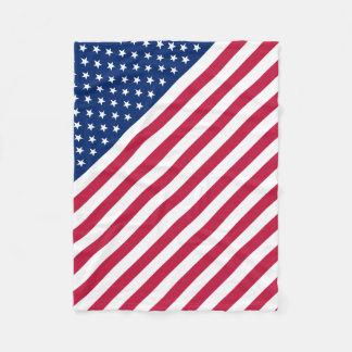 USA Flag Stars and Stripes Baby Fleece Blanket